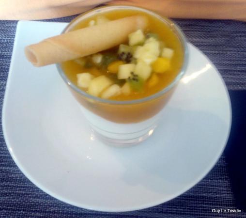 Fromage blanc la mangue et aux fruits photo de le for Le jardin fromager