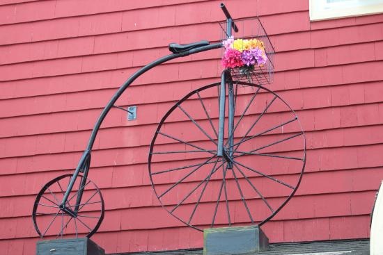 I love this! The High Wheeler Cafe in Baddeck.