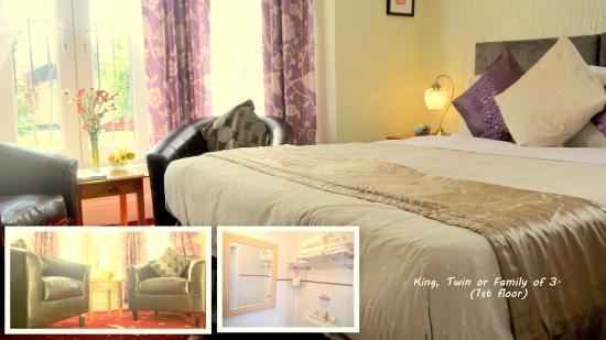 Kilbrannan Guest House: King, Twin or Family room 1st floor