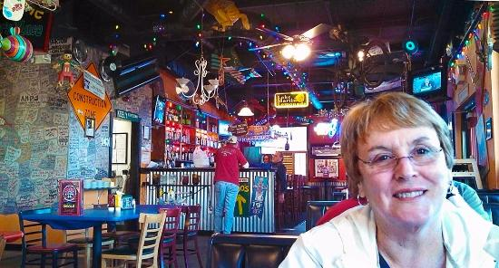 Dadeville, AL: colorfully decorated bar area