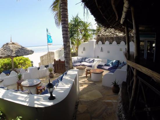 Zanzibar Retreat Hotel: Här inledde vi alltid middagen med något svalkande att dricka