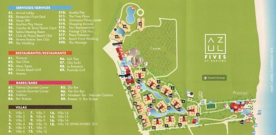 The Fives Azul Beach Resort Playa Del Carmen Updated Map