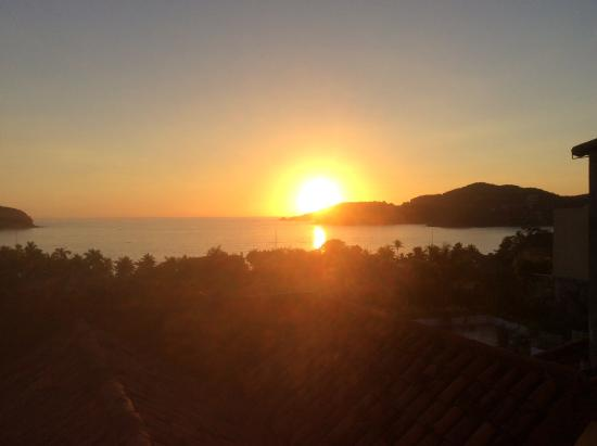Villas San Sebastian: Sunset over La Ropa