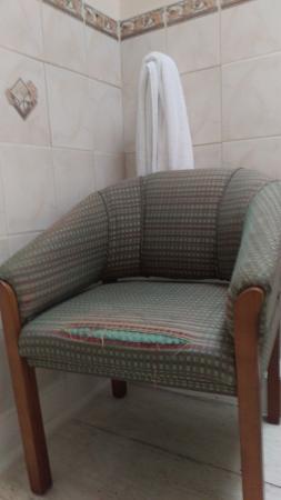 shabby bathroom chair complete with last unfortunate inhabitant s rh tripadvisor co uk