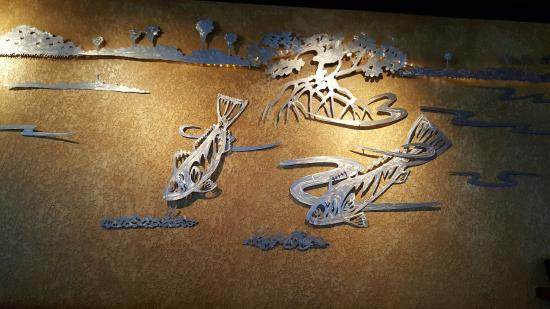 Fish art sculpture wall - Picture of Bonefish Grill, Gainesville ...
