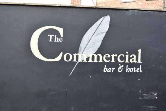 The Commercial Bar & Hotel: Sign at entrance to back of the Hotel approaching from Goss St