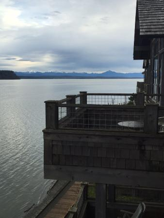 Inn at Langley : View of other balconies from ours and out to sea