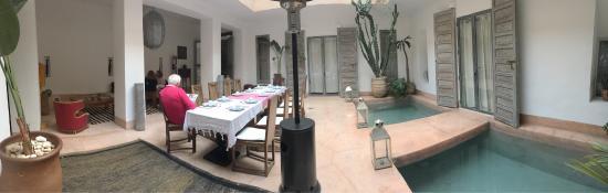Février 2016 configuration famille au Riad de Vinci