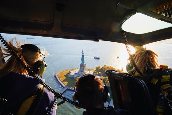 Kearny, NJ: FlyNYON's doors-off helicopter experience is the best way to capture New York City's landmarks.