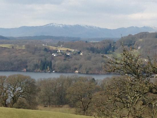 Bowness-on-Windermere, UK: View of Lake Windermere and mountains beyond