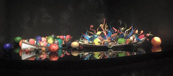 Chihuly Garden And Glass: Boats Filled With Glass Sculptures Great Ideas