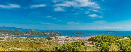 Panoramic view from Skiathos Garden Cottages