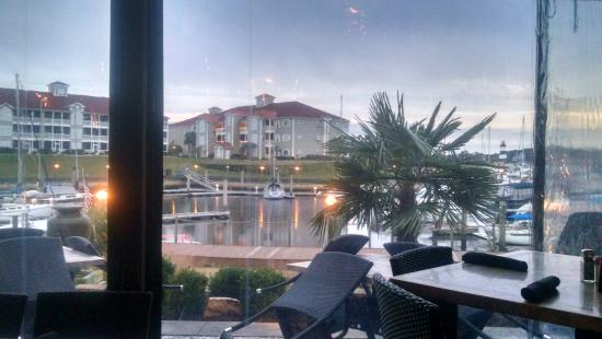 Clark S Seafood And Chop House Outside Patio Dining Bar View