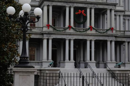 Eisenhower Executive Office Building: Close-up of some of the decorations and the little cannons!