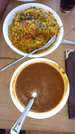 Duke Hotel: Mutton Pulao & Dal