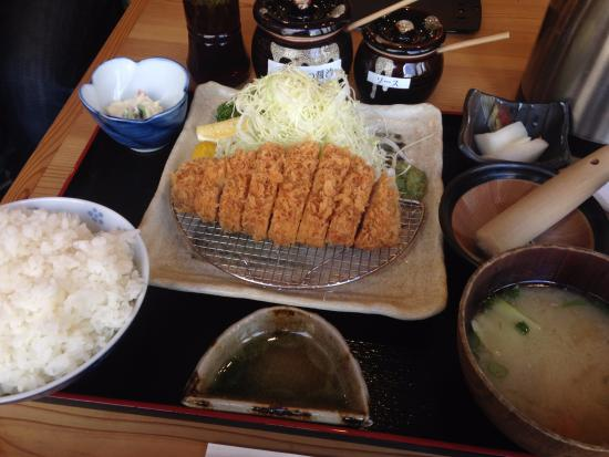 Nomotoya: 特選ロースかつ定食(120g)