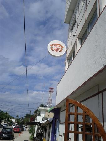Hotel Inglaterra: sign hotel seville puerto morelos 2nd street puerto morelos