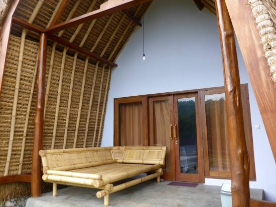 Magnificent A Big Bamboo Chair On The Porch To Chill Picture Of Kura Download Free Architecture Designs Scobabritishbridgeorg