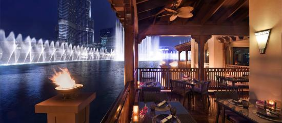 Thiptara Terrace overlooking the Dubai Fountains & the Burj Khalifa - The Palace Downtown Dubai