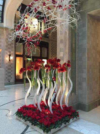 lobby with valentine 39 s day decoration picture of four