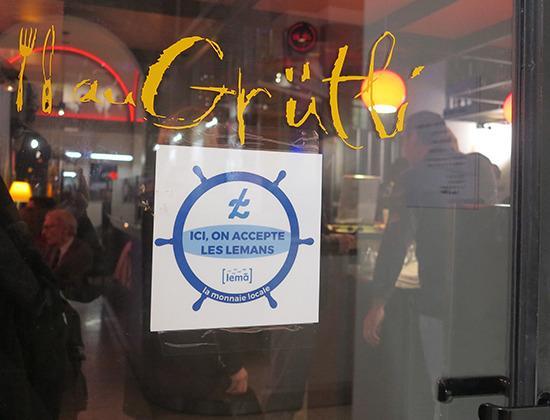Cafe du Grutli : Monnaie Lemans : Chez nous, vous pouvez payer avec vos Léman, pour aller vers une économie socia