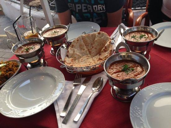 Saag Aloo, Lamb Phall, Keema Mutter Curry, our favorite combination ...