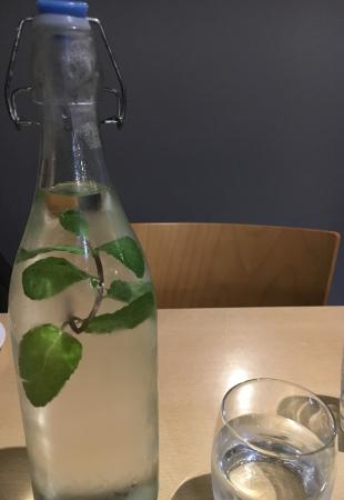 The Straits Restaurant: Fresh mint water - nice touch