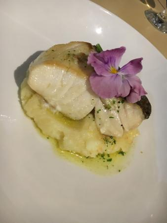 The Straits Restaurant: Coley main course - tender and succulent fish