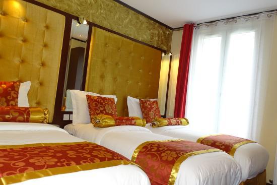 Hotel des Buttes Chaumont: Chambre Triple