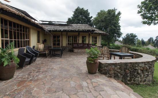 Mount Gahinga Lodge: Terrasse