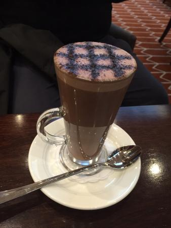 Hot chocolate in the bar