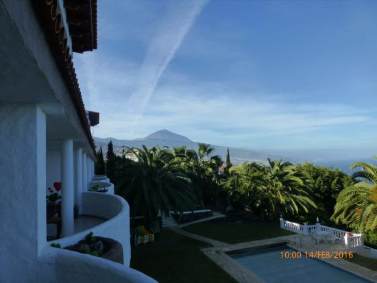 Residencial Rolando: Blick vom Balkon auf den Pico de Teide
