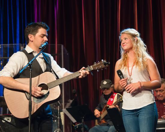 Oklahoma Opry : Owen Pickard of JakeFM with his beautiful bride, Kelcie