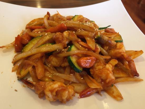 Korea House : Shrimp with vegetables