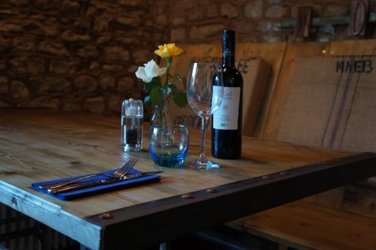 Upton Bishop, UK: Dining in the workshop