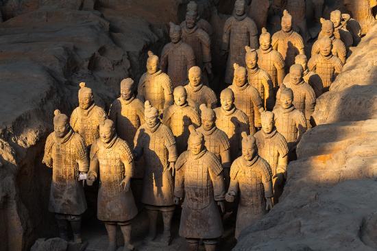 Xian County, China: Terra Cotta Soliders in Sunlight