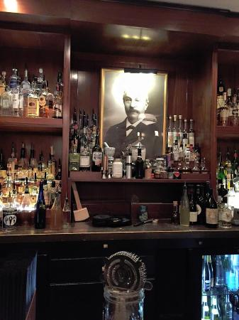 The bar at Peter Kern Library