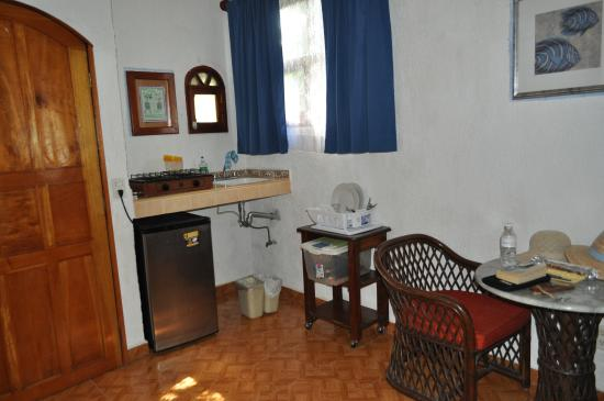 kitchen area in our room with hot plate refrigerator and sink not rh tripadvisor com