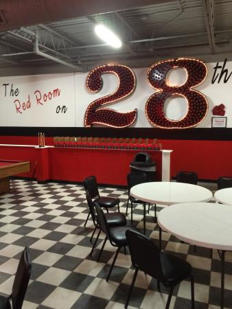 Jimmy John's in Hudsonville has a back room you can rent!
