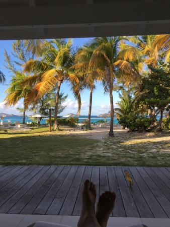 Hotel Emeraude Plage: Paradise from bungalow F
