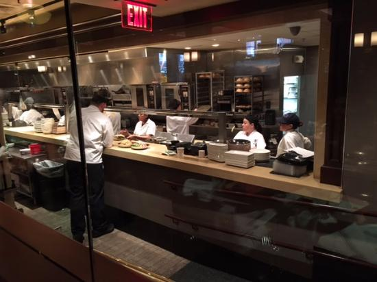 get a table with a view of the kitchen picture of joe s american rh tripadvisor com
