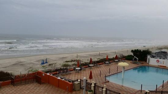 La Quinta Inn Suites Oceanfront Daytona Beach This Was The View From Our Balcony