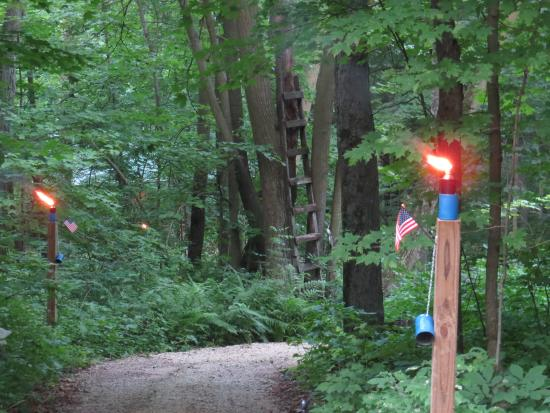 Hillsboro, WI: Torches on walking trail