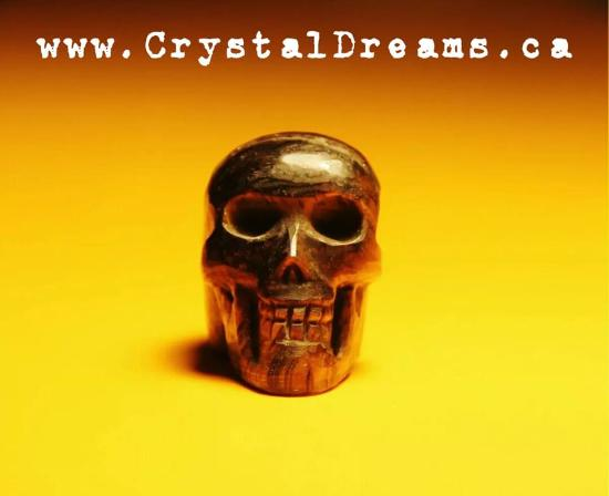 Montreal, Canadá: A large variety of Crystal skulls carved by hand