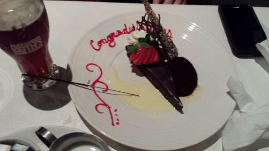 Restaurant l'imprevu: Thoughtful dessert