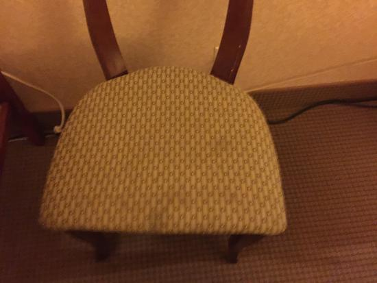 Ramada Chatsworth: Stained chair