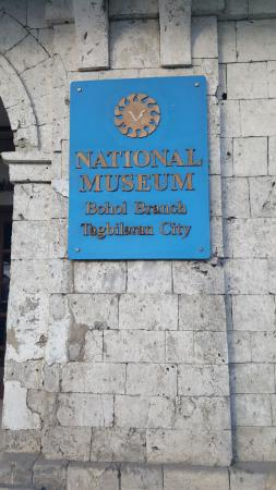 Bohol National Museum: The museum sign.