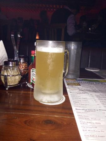 Downtown Cafe: Their great wheat beer pitcher