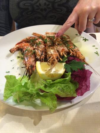 Ristorante Zi'Ntonio: Superb grilled prawns