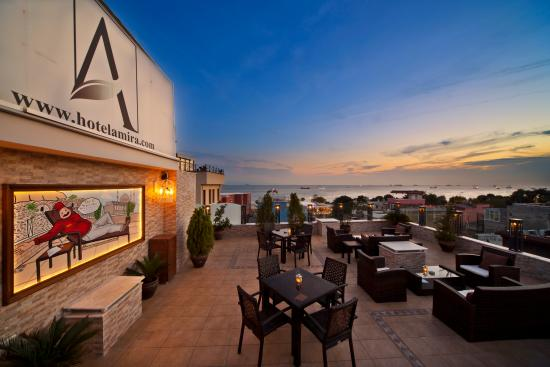 Hotel Amira Istanbul: Open Roof Terrace